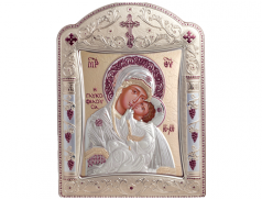 Icone ortodosse in legno e argento PUD 29x39 cm