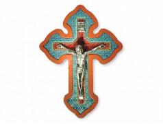 Croce in polimero con Cristo in metallo