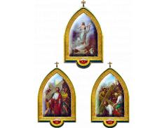 Via Crucis gotica in foglia oro