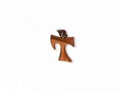 Ciondolo Tau in legno d'ulivo