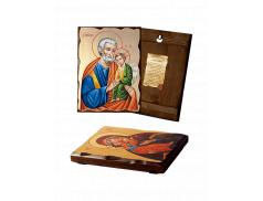 Icona Ortodossa in Legno Massello con foglia oro
