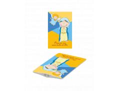 Card con immagine e luce Led