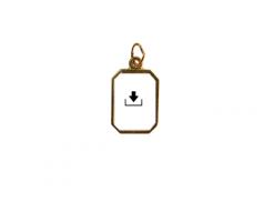 Medaglia in metallo con anello