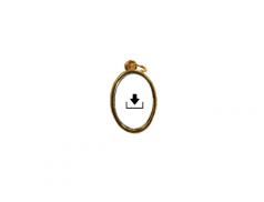 Medaglia ovale in metallo con anello