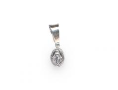 """Medaglina in argento con """"Madonna Miracolosa"""" confezione 10 pz."""