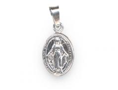 """Medaglina in argento con """"Madonna Miracolosa"""" confezione 5 pz."""
