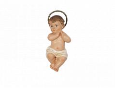 Bambino Gesù in resina dipinto a mano