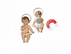 Bambino Gesù in resina dipinti a mano