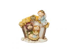 Sacra Famiglia in resina dipinta a mano