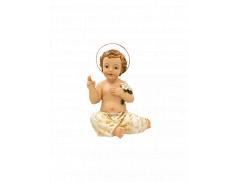Bambino Gesù in resina dipinto a mano 5 cm