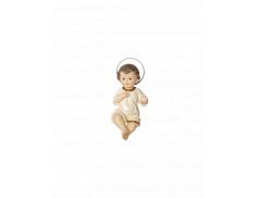 Bambino Gesù in resina dipinto a mano 15 cm