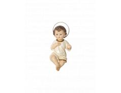 Bambino Gesù in resina dipinto a mano 20 cm