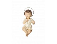 Bambino Gesù in resina dipinto a mano 28 cm