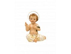 Bambino Gesù in resina dipinto a mano 7,5 cm