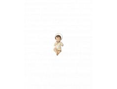 Bambino Gesù in resina dipinto a mano 10 cm