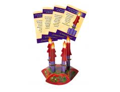 Corona dell'Avvento 4 candele in cartoncino da montare