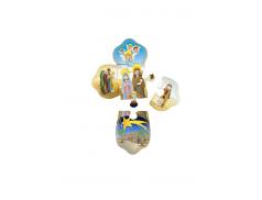 Cartoncino con Croce in legno per Avvento divisa in 5 pezzi puzzle