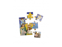 Cartoncino con Puzzle di 9 pezzi con la Novena a Gesù Bambino