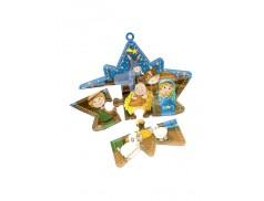 Cartoncino con stella per Avvento divisa in 5 pezzi puzzle