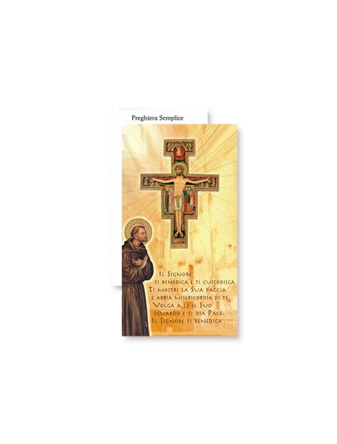 Cartoncino con Croce San Damiano 12 cm