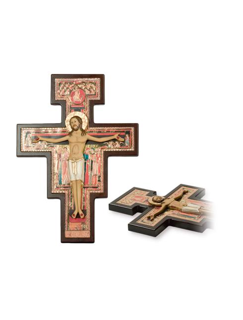 Croce San Damiano con corpo a rilievo