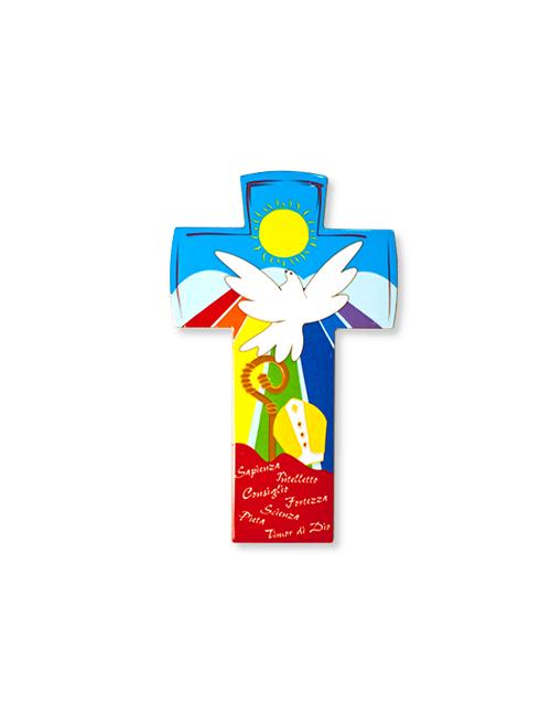 Croce Cresima in pomlimero con finitura lucida
