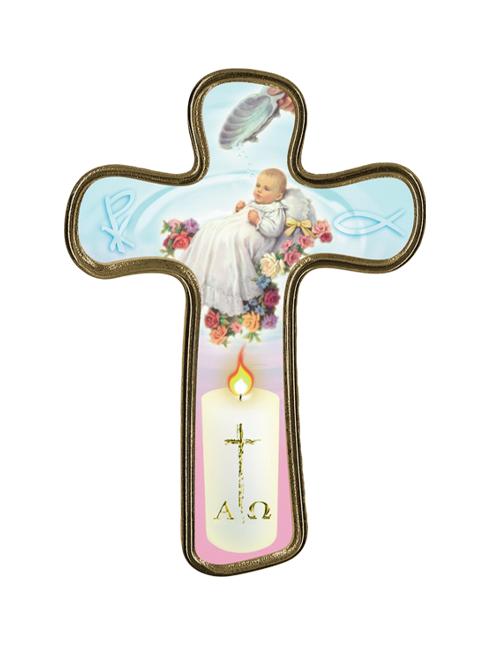 Croce in polimero del Battesimo