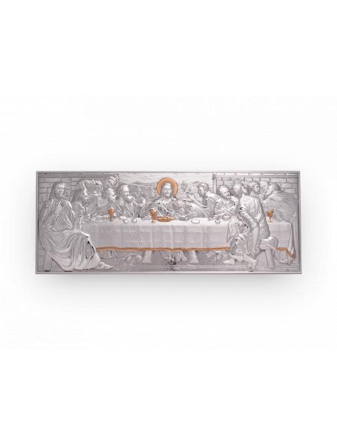 Quadro da parete e da appoggio in argento bilaminato  con dettagli dorati