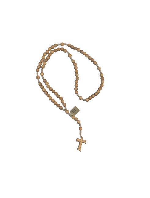 Rosario Francescano 7 misteri con grani in legno di ulivo
