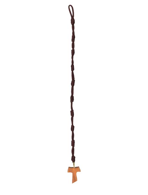 Bracciale in corda con grani nodi con Tau