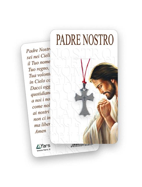"""Ciondolo con preghiera """"Padre Nostro"""""""