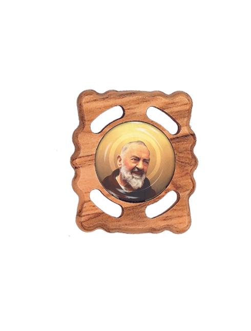 Magnete per auto in legno d'ulivo