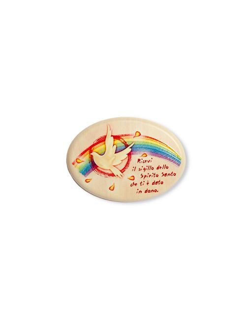 Magnete della Santa Cresima in polimero effetto legno