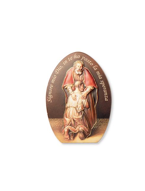 Quadretto Festa del Perdono con dettagli in oro a caldo