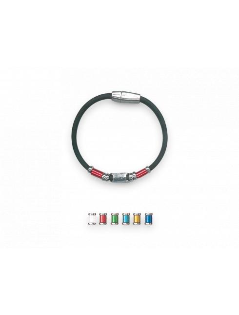 Bracciale con cinturino in gomma con chiusura magnetica