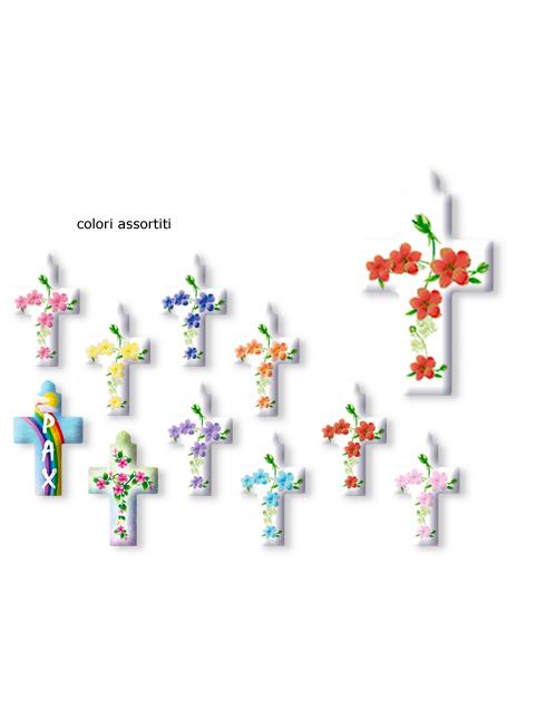 Serie da collo con decorazioni a stampa modello croce