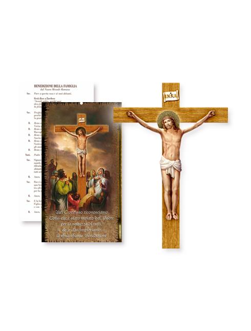 Croce in polimero con cartoncino Benedizione della Famiglia