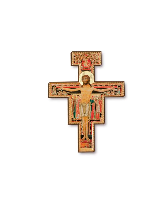Croce di San Damiano in polimero con finitura lucida