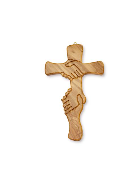 Croce dell'Amicizia in legno d'ulivo