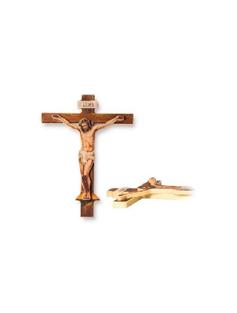 Croce in legno con Cristo a rilievo