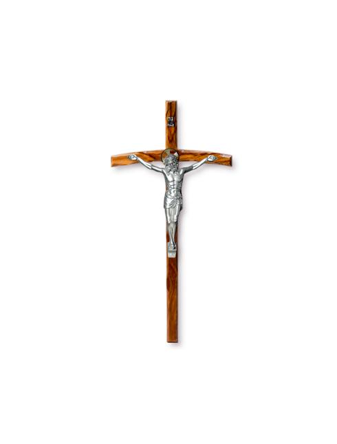 Croce in legno di ulivo con Cristo in metallo