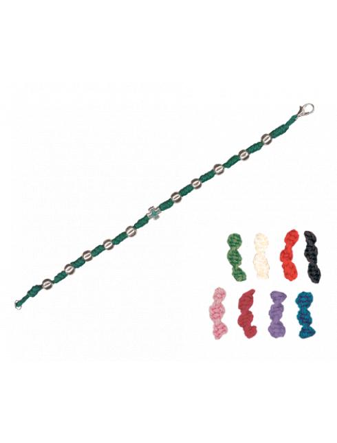 Bracciale in corda con grani lisci