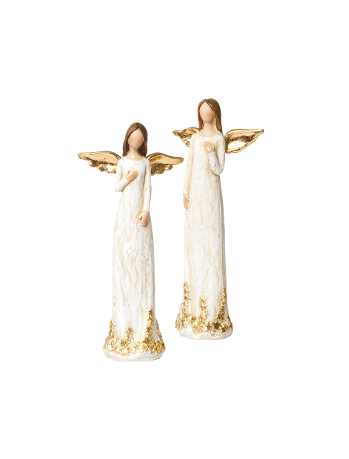 Angeli in resina dipinti a mano