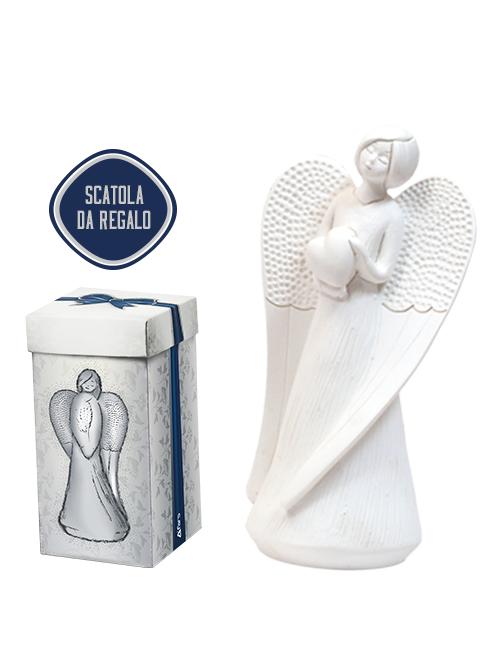 Angeli in resina bianco