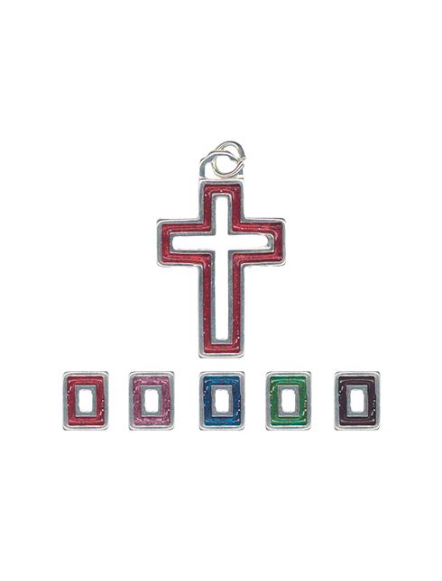 Croce in metallo smaltato