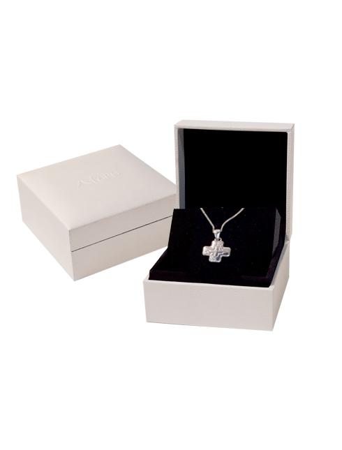 Croce in argento con astuccio