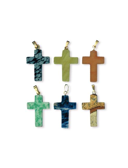 Ciondolo croce in pietra