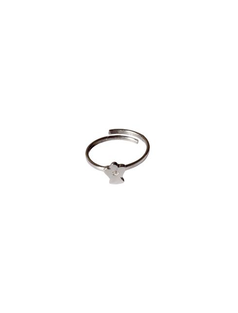 Anello in argento 925 con angelo e strass apribile