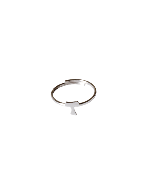 Anello in argento 925 con tau apribile