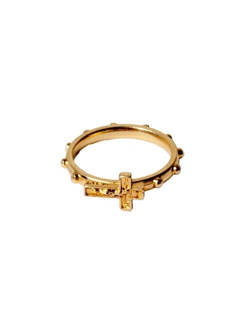 Rosario anello con croce